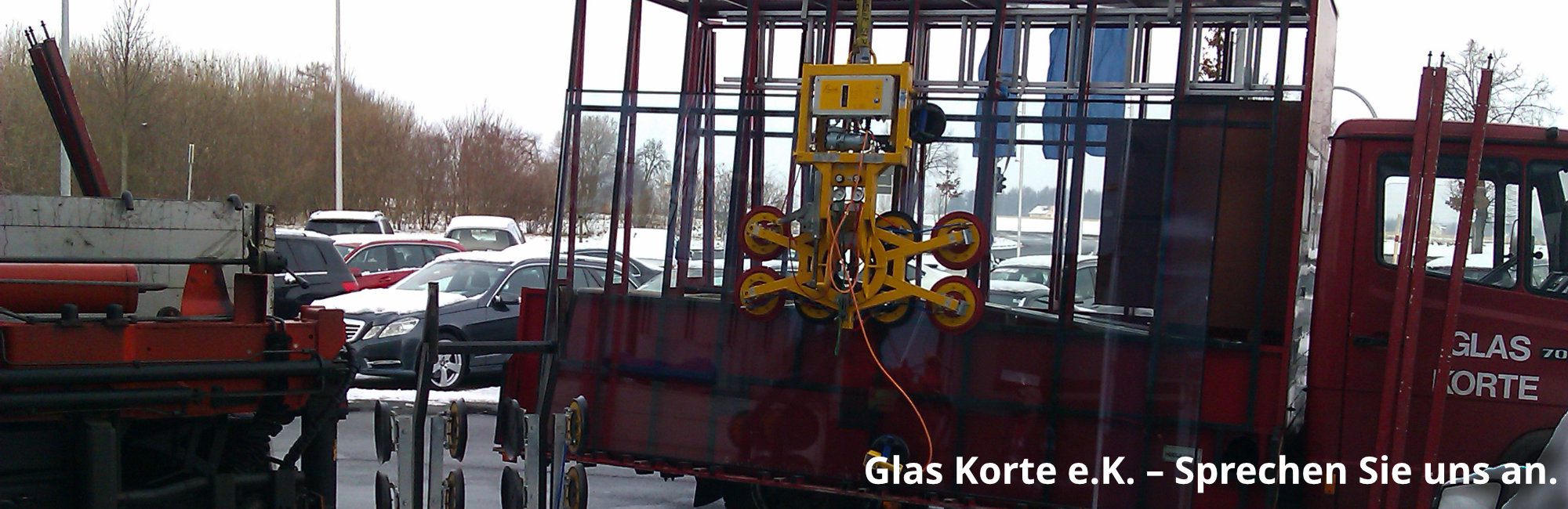 Glas Korte Bad Salzuflen mit Text
